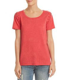 CHASER Lace-Up Sleeve Tee at Bloomingdales