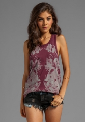 CHASER Isabel Kaleidoscope CHASER Cotton Deep Armhole Tank in Oxb at Revolve