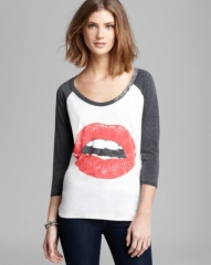 CHASER Tee - Glam Lips Baseball at Bloomingdales