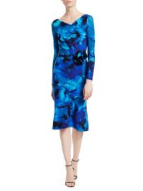 CHIARA BONI LA PETITE ROBE - LONG-SLEEVE PRINTED RUFFLE BOTTOM DRESS at Saks Fifth Avenue