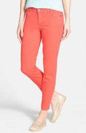 CJ by Cookie Johnson and39Wisdomand39 Colored Stretch Ankle Skinny Jeans in orange at Nordstrom