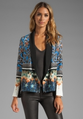 CLOVER CANYON Arabesque Scarf Jacket in Multi at Revolve