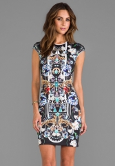 CLOVER CANYON Gold Panther Dress in Multi at Revolve