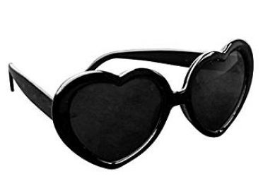 COCODE Lolita Metal Heart Shaped Frame Cupid Sunglasses at Amazon