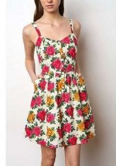 Cabbage rose dress by Kimchi Blue at Urban Outfitters