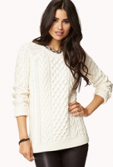 Cable Knit Sweater at Forever 21