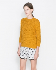 Cable knit sweater at Zara