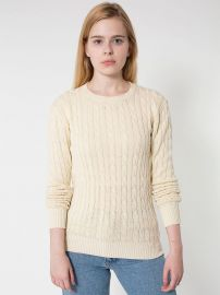 Cable knit sweater at American Apparel