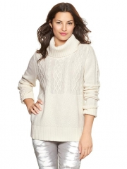 Cable knit turtleneck at Gap