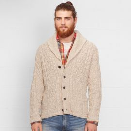 Cabled Shawl Collar Cardigan at Ralph Lauren