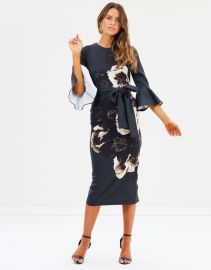 Caboodle Sleeve Midi Dress at The Iconic