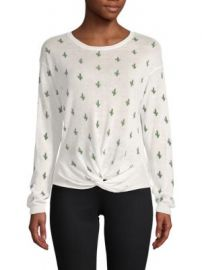 Cactus Knot Front Sweater at Saks Off 5th