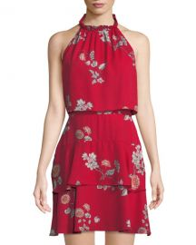 Cadence Floral-Print Halter Popover Dress by BB Dakota at Last Call