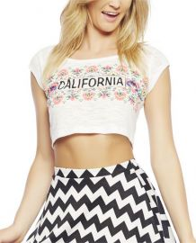 Cali Floral Crop Tee at Wet Seal