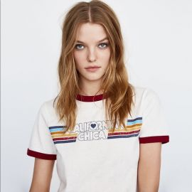 Californian Chica Graphic Ringer Tee by Zara at Zara