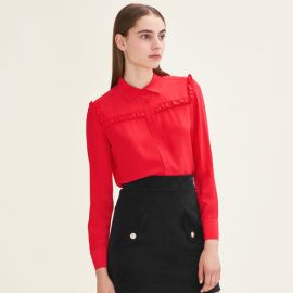 Callie Silk Shirt at Maje