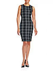 Calvin Klein - Sleeveless Plaid Dress at Saks Off 5th