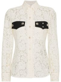 Calvin Klein 205W39nyc Lace Long Sleeve Shirt at Farfetch