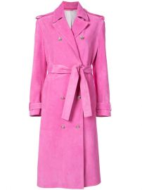 Calvin Klein 205W39nyc Suede Trench Coat at Farfetch