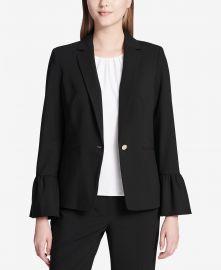 Calvin Klein Bell Sleeve Blazer at Macys