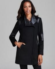 Calvin Klein Coat - Asymmetric Mixed Media at Bloomingdales