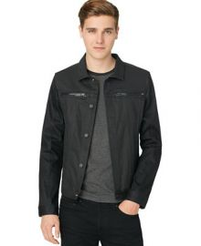 Calvin Klein Coated Jacket - Men - Macys at Macys