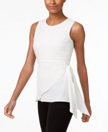 Calvin Klein Faux-Wrap Shell  a Macy s Exclusive at Macys