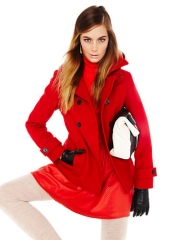 Calvin Klein Hooded Pea Coat at Lord & Taylor