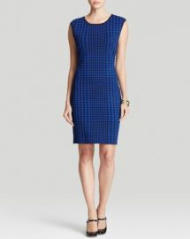 Calvin Klein Houndstooth Sweater Dress at Bloomingdales