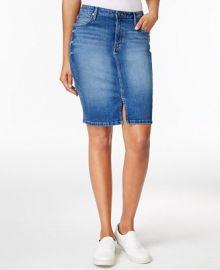 Calvin Klein Jeans Sculpted Denim Pencil Skirt at Macys
