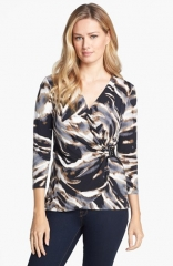 Calvin Klein Matte Jersey Wrap Top at Nordstrom