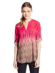 Calvin Klein Ombre blouse at Amazon