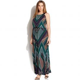 Calvin Klein Plus Geo Print Studded Maxi Dress at Macys