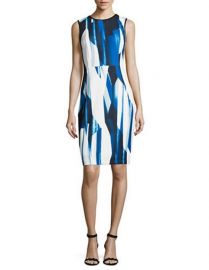 Calvin Klein Plus Printed Sheath Dress at Lord & Taylor