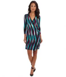 Calvin Klein Rayon Printed Wrap Dress CD4N8D63 Multi at 6pm