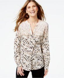 Calvin Klein Snakeskin-Print Utility Shirt x at Macys