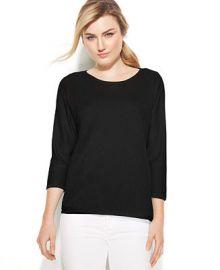 Calvin Klein Three-Quarter-Sleeve Dolman Sweater at Macys