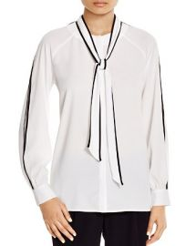 Calvin Klein Tie Neck Blouse at Bloomingdales