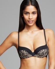 Calvin Klein Underwear Black Label Lace Contour Balconette Bra F3687 at Bloomingdales
