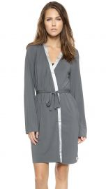 Calvin Klein Underwear Essentials with Satin Short Robe in Charcoal at Shopbop