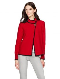 Calvin Klein Women s Short Boiled Wool Jacket at Amazon