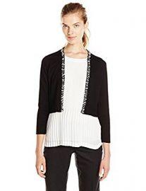 Calvin Klein Women s Shrug with Pearl Detail at Amazon