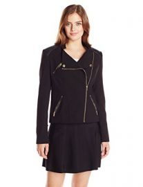 Calvin Klein Womenand39s Moto Jacket with Zips at Amazon