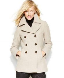 Calvin Klein Wool-Cashmere Double-Breasted Peacoat at Macys