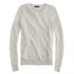 Cambridge Cable Crewneck Sweater at J. Crew