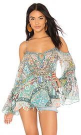 Camilla Drop Shoulder Top in Sisters Of The Marigold from Revolve com at Revolve