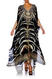 Camilla Zebra Crossing Split Front & Sleeve Kaftan at Arch Fashion