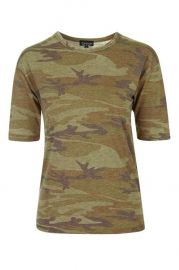 Camo Burnout Tee at Topshop