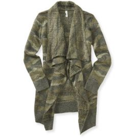 Camo Cardigan at Aeropostale