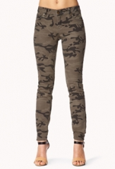 Camo Skinny Jeans at Forever 21